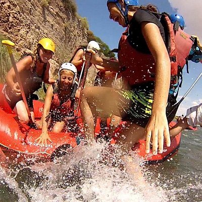 Taking a fall in the Mendoza River! Shot with my own GoPro camara. Our guide was great and keep