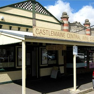 The entrance to Castlemaine Central Wine Store