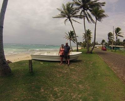 Diana and I at Sally Peachy on Big Corn Island, Nicaragua