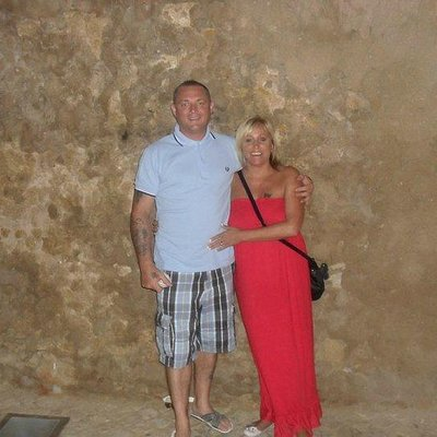 picture taken in the tunneled rock at the old town