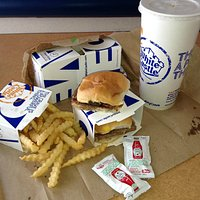Slider and fries