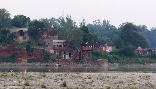 Mughal Heritage Walk:  View across Yamuna River