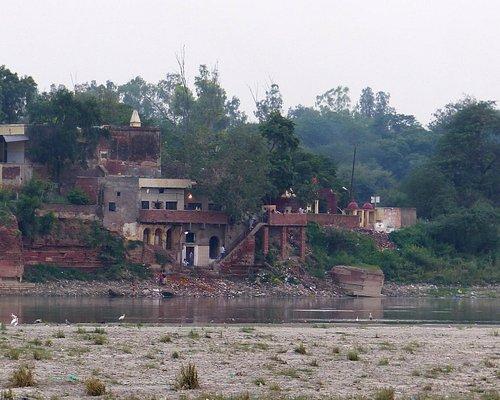 Mughal Heritage Walk:  View across Yamuna River