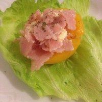 Peach and ham