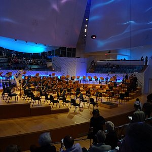 Internal view of Concert Hall stage