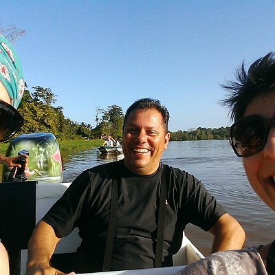 Edgar and us in Tortuguero, CR.
