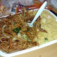 Lo Mein with Shrimp Fried Rice (forgot to take a pic of the egg roll that came with it)