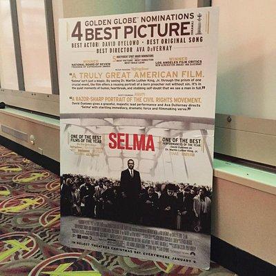 Selma poster in the theatre