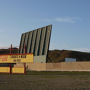 The drive-inn movie theater in Barstow, CA