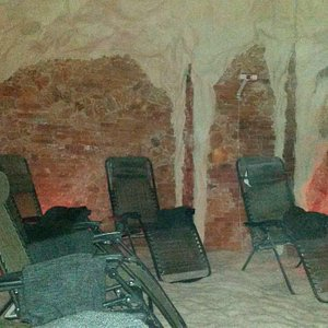 Inside the salt cave, the light is very dim so it doesn't photgraph well...