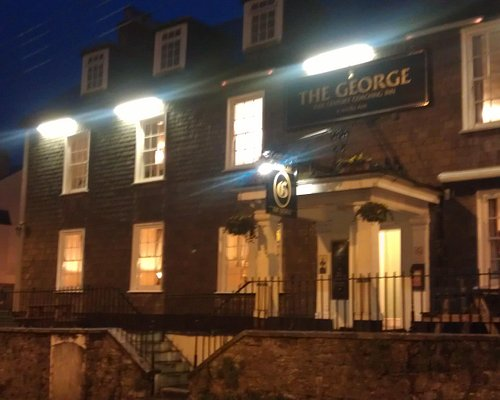 The George on cold night in January.