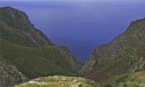 View from the monastery Agios Panteleimonas