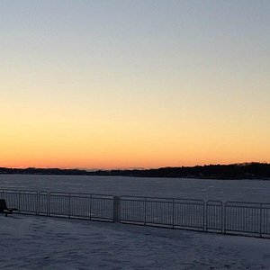 Winter sunset at the Heinz Walkway