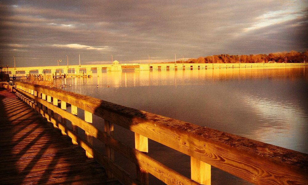 The Chester River Bridge during a winter sunset; the waterfront is really lovely here.