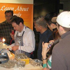 Opal cutting demonstration