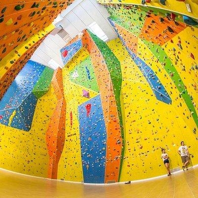 Veduta d'insieme delle pareti da 15 m