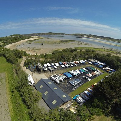 Bennett Boatyard from the air