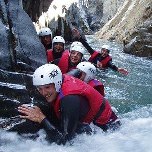 River trekking in the Alcantara river