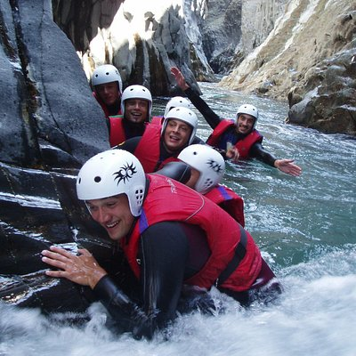 River trekking in the Alcantara river