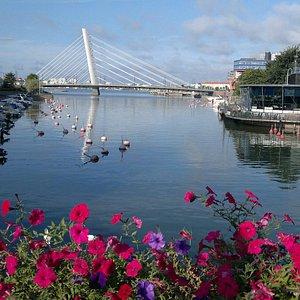 Ruoholahti Canal and Crusell Bridge