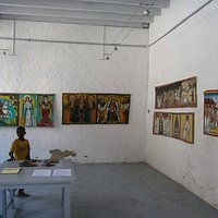 We have a collection of traditional Ethiopian paintings