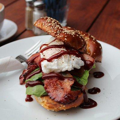Bacon and Egg Pretzel