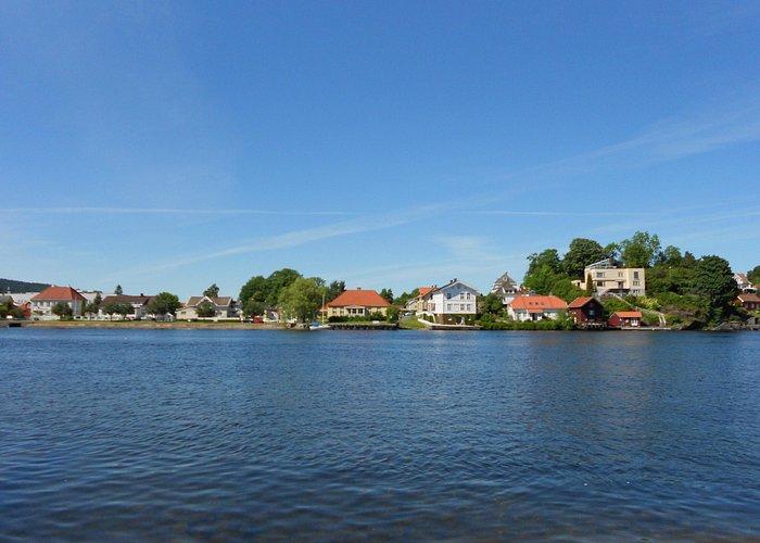 Sunny view on Porsgrunn