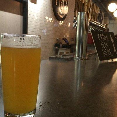 The bar at Badger Brewing