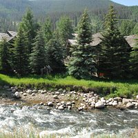 A creek flows thru it