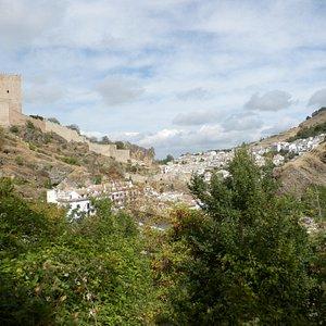 vistas del castillo y de Cazorla