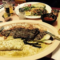 Skirt Steak, Enchilada, Tacos (One Chili Relleno)