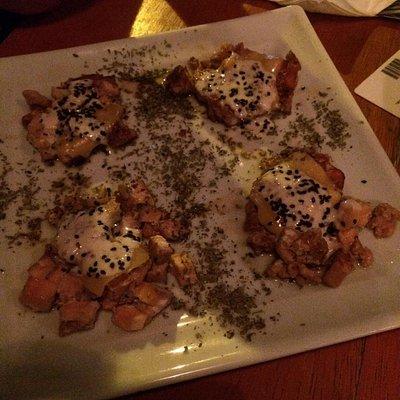 Hamburguinhos de salmão