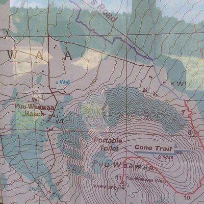 Photo of topo map