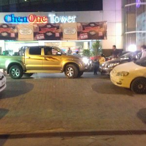 Infront of mall