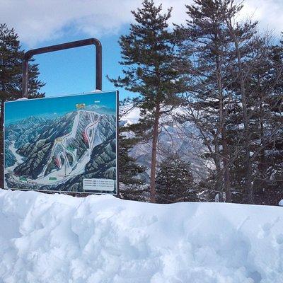 山頂のゲレンデマップ