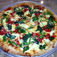 Whole wheat with broccoli rabe and artichokes