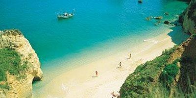 White powder sand & Clean Blue Flag Waters