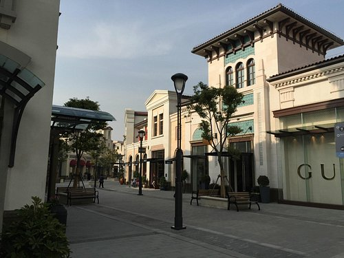 View of the shops