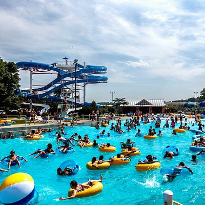 Wave Pool and 5-Story Waterslides