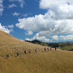 Striking out into the grassy hills of Fiji's interior