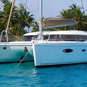 Crewed catamaran charter services