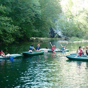 Kayaking river Mreznica