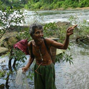 Kavet tribal man goes on a fishing