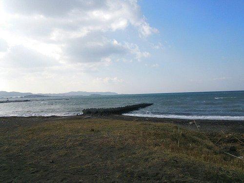 冬の館山の海