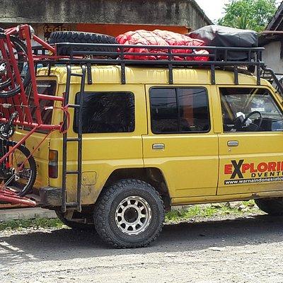 Our JEEP SAFARI 4WD for SUKAMADE TRIP (Meru Betiri National Park,East Java)