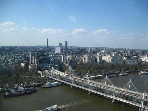 Jubilee footbridge from the London Eye