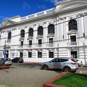 O prédio da Biblioteca de Valparaíso
