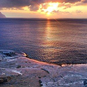 Sonnenaufgang am Strand von Chalara