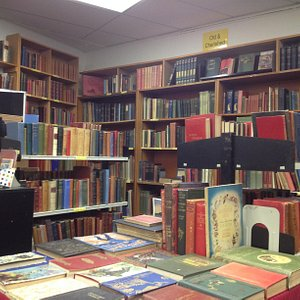 The vintage book section on the second floor.