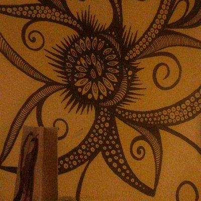 Pintura da parede dos fundos